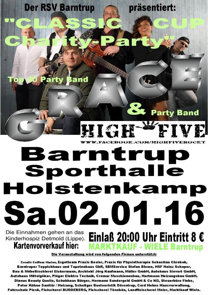 After Classic Cup Charity Party mit Grace, fürs Kinderhospiz !!!