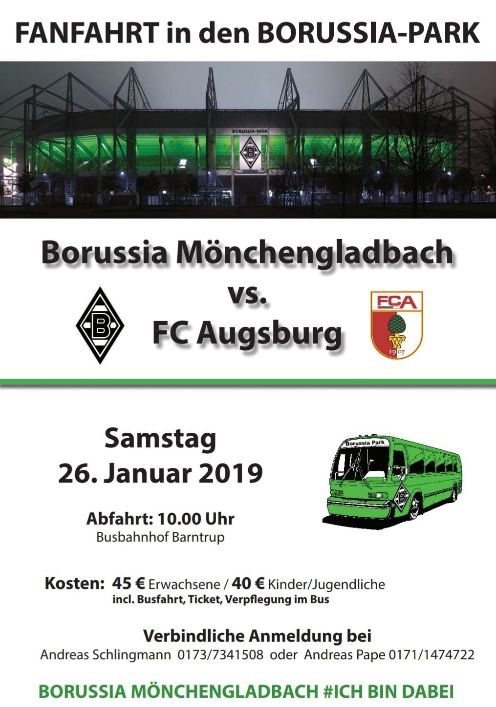Seid dabei bei der traditionellen Fanfahrt in den Borussia-Park!