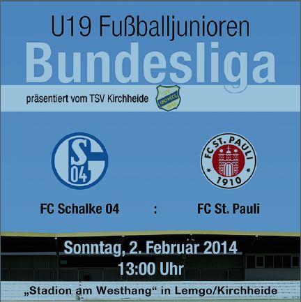 U19 Bundesliga in Kirchheide, 02.02. um 13:00 Uhr
