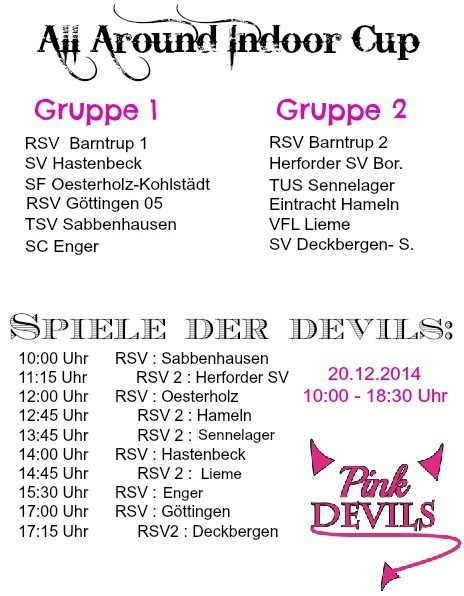 """All around Indoor Cup"" der Pink Devils – Samstag ab 10 Uhr!"
