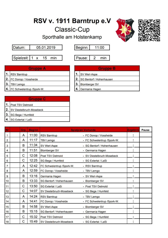 22. Classic-Cup mit Rundum-Bande